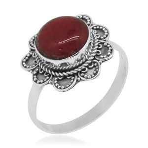 Jewelry - Size 9 Bali Sponge Coral Sterling Silver 925 Ring